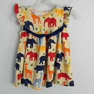 Kelly's Kids Zoo Animals Dress 5/6 girls